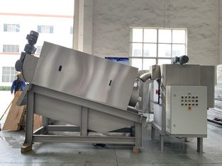 China Screw Filter Press Sludge Dewatering Machine For Compact Sewage Treatment Plant supplier