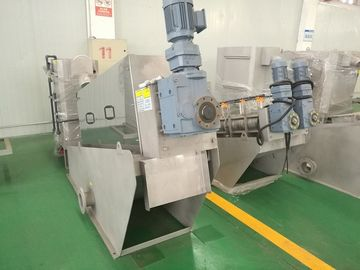 China Mechanical Dewatering Sludge Dewatering Machine , Sludge Screw Press Industry factory