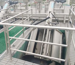 China Mechanical Rotary Drum Screen In Industrial Wastewater Treatment 800 - 2000mm Discharge distributor